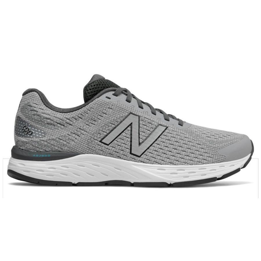 ニューバランス New Balance メンズ シューズ・靴 ランニング・ウォーキング 680 V6 Running Shoe グレー/白い