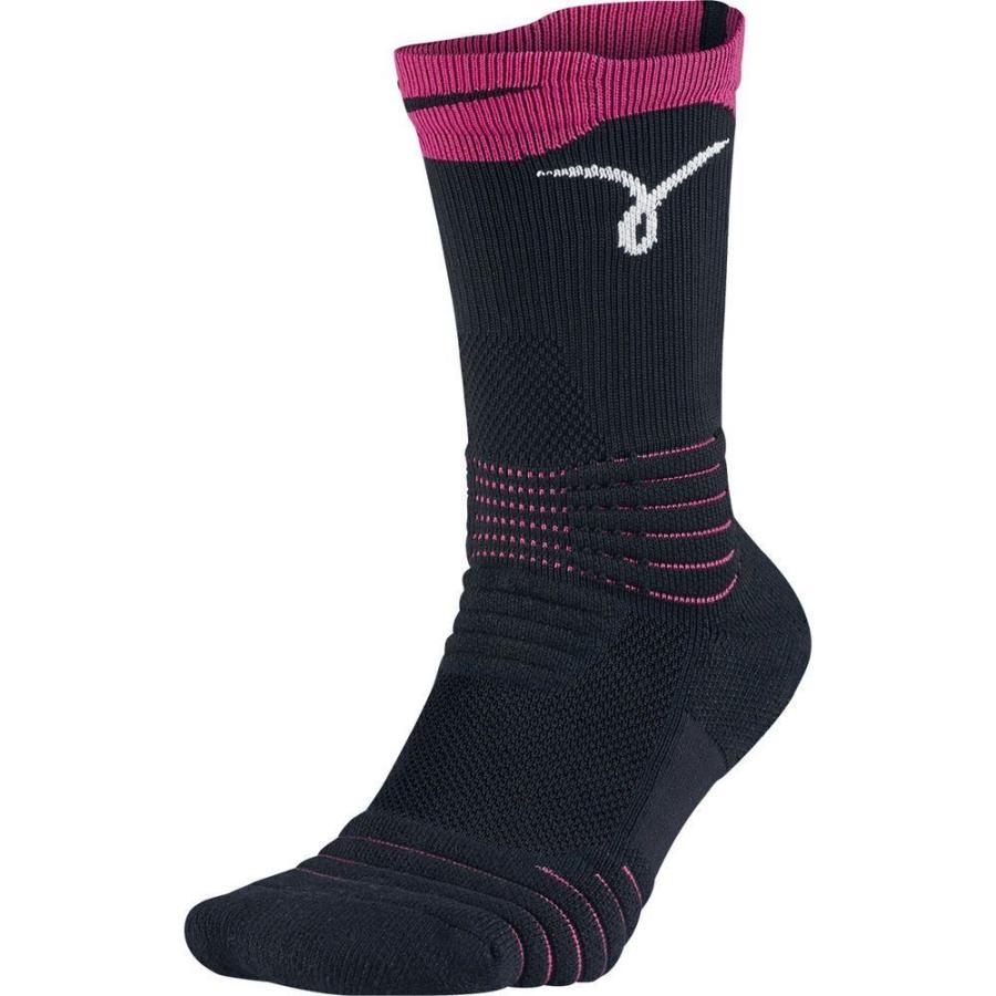 ナイキ Nike ユニセックス バスケットボール ソックス elite versatility kay yow basketball crew socks 黒/ピンク