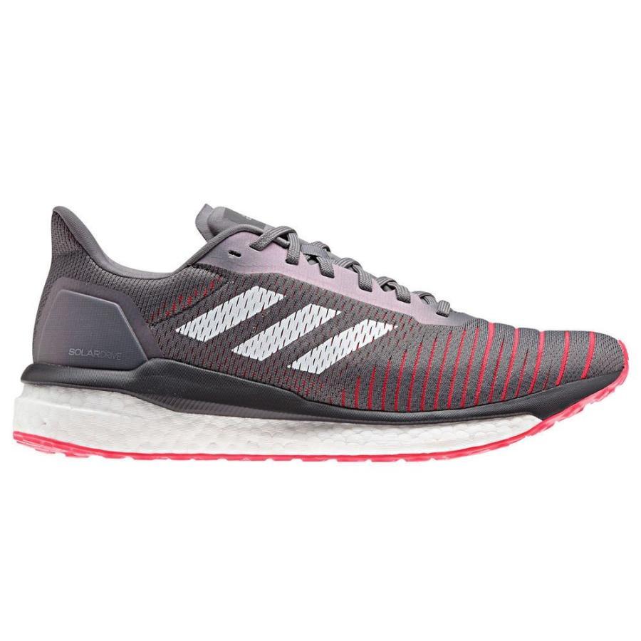 アディダス adidas メンズ シューズ・靴 ランニング・ウォーキング Solar Drive Running Shoe グレー/白い