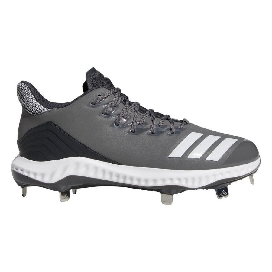 アディダス adidas メンズ シューズ・靴 野球 Icon Bounce Metal Baseball Cleat グレー/白い