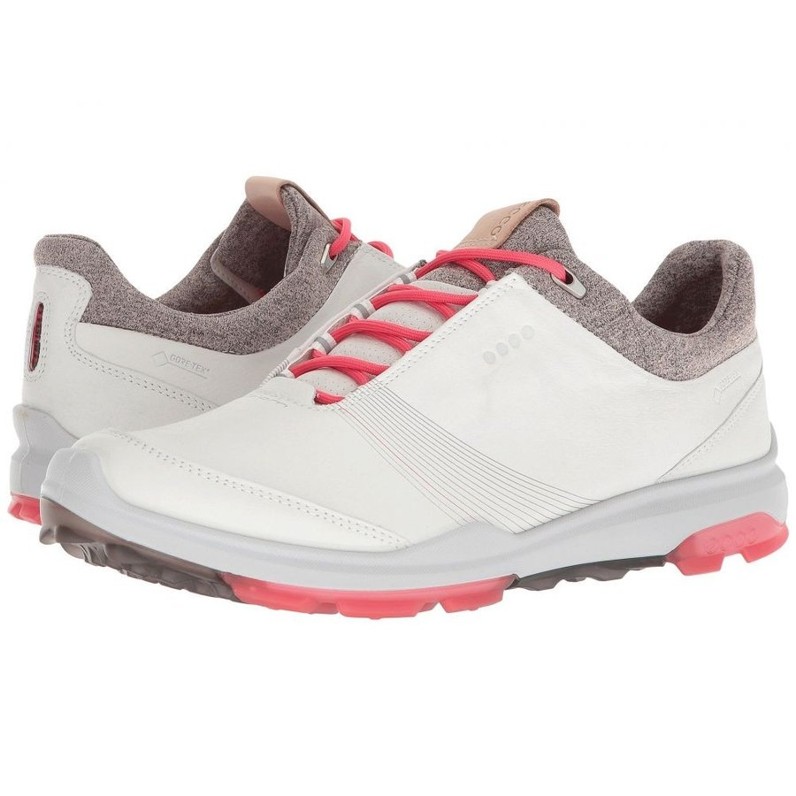 エコー レディース シューズ・靴 ゴルフ Biom Hybrid 3 GTX 白い/Teaberry