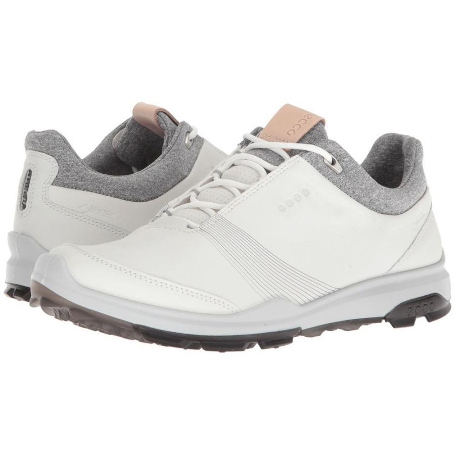 エコー レディース シューズ・靴 ゴルフ Biom Hybrid 3 GTX 白い/黒