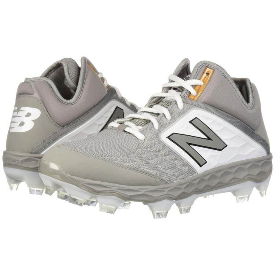 ニューバランス New Balance メンズ シューズ・靴 野球 PM3000v4 グレー/白い