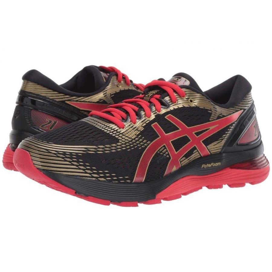 アシックス ASICS メンズ シューズ・靴 ランニング・ウォーキング GEL-Nimbus 21 黒/Classic 赤 2