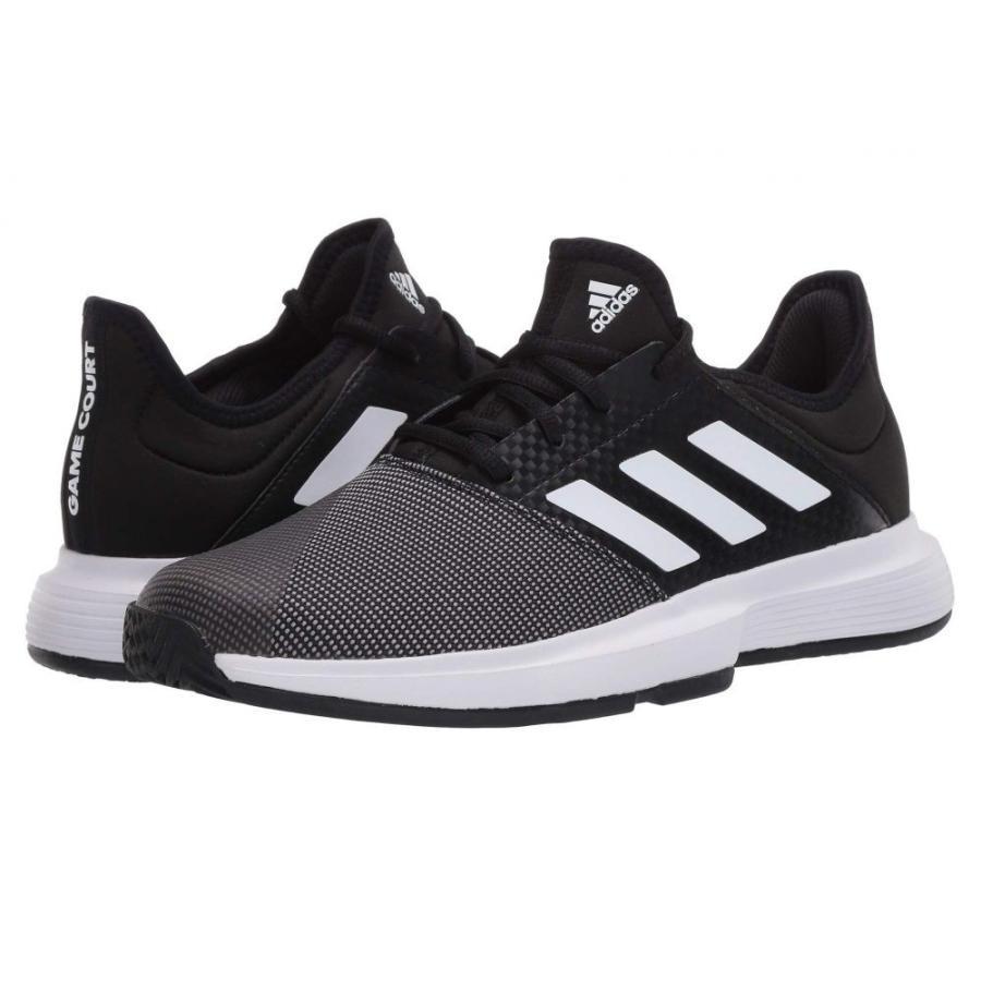 【同梱不可】 アディダス adidas レディース テニス シューズ・靴 GameCourt Core Black/Footwear White/Grey Six, RainbowRabbit c44de9da