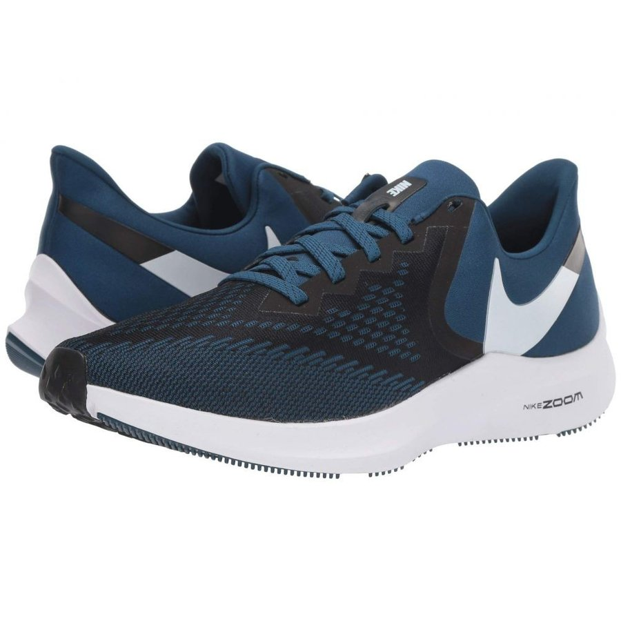 ナイキ Nike メンズ シューズ・靴 ランニング・ウォーキング Air Zoom Winflo 6 黒/Topaz Mist/青 Force/白い