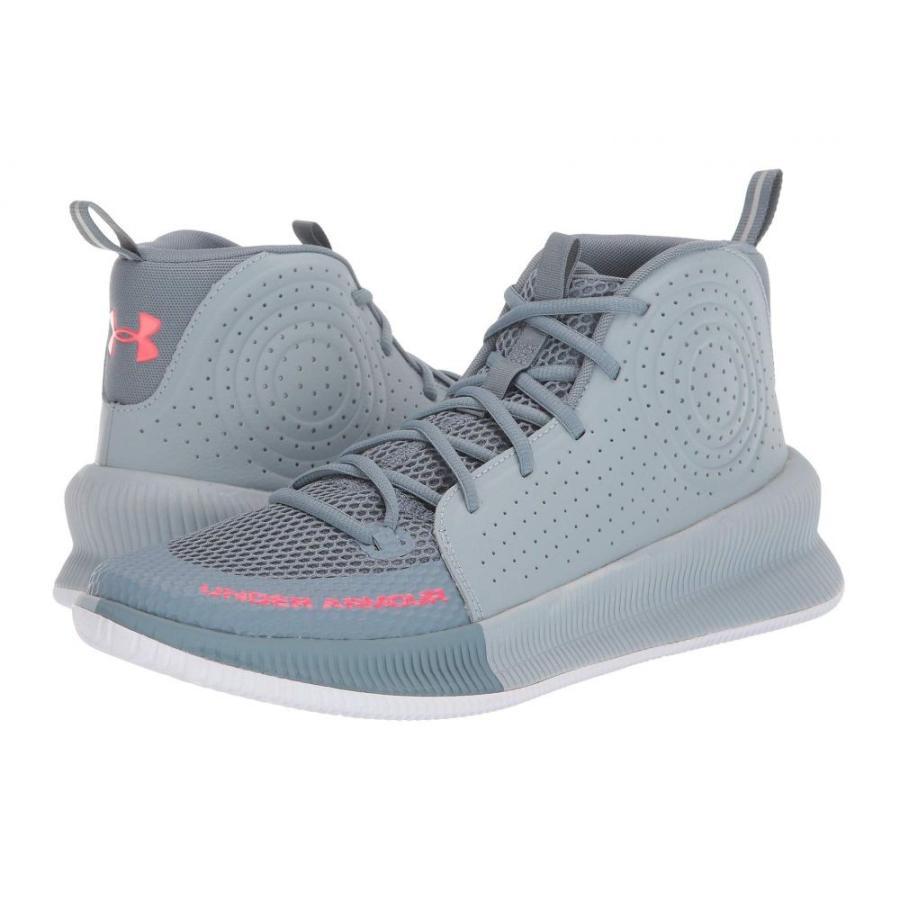 アンダーアーマー Under Armour メンズ シューズ・靴 バスケットボール Jet Ash Gray/Harbor 青/Beta 赤