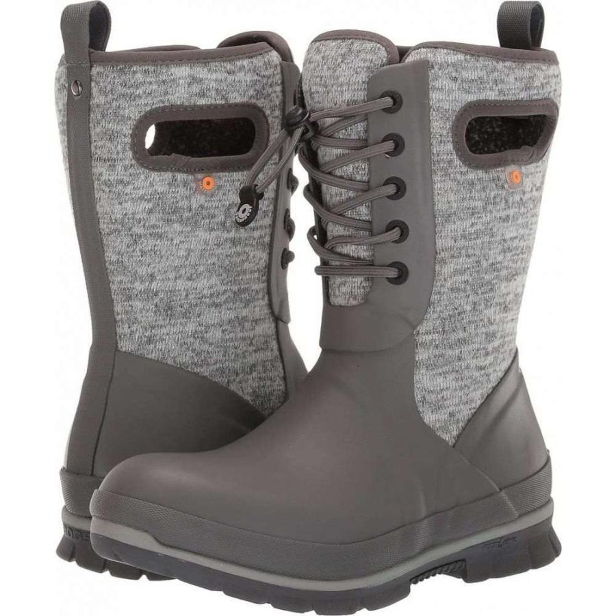 ボグス Bogs レディース スキー・スノーボード シューズ・靴 Crandall Lace Knit Gray Multi
