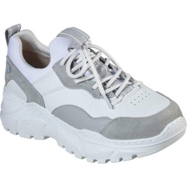 スケッチャーズ Skechers レディース ランニング・ウォーキング スニーカー シューズ・靴 B-Rad Block and Pop Sneaker 白い