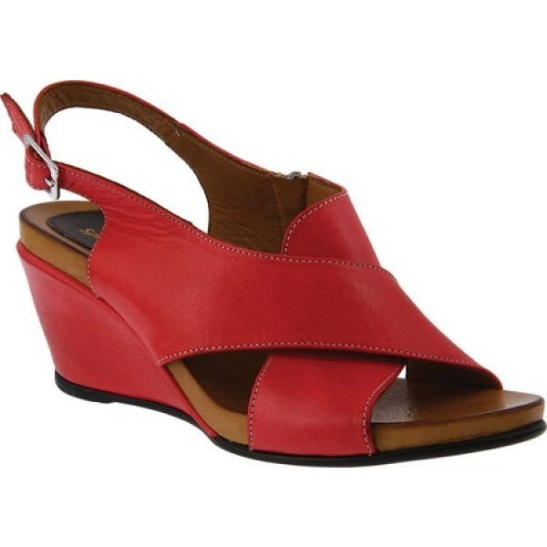 早割クーポン! スプリングステップ Red Spring Step Step レディース シューズ・靴 シューズ・靴 Caronise Slingback Red Leather, 木のおもちゃ デポー:f6342c94 --- sonpurmela.online