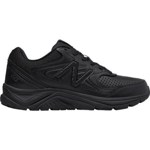 ニューバランス New Balance レディース シューズ・靴 ランニング・ウォーキング WW840v2 Walking Shoe 黒/黒/黒 Leather