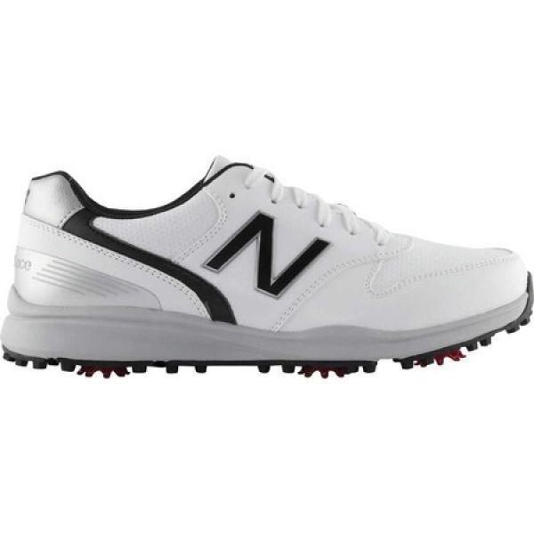 ニューバランス New Balance メンズ シューズ・靴 ゴルフ Sweeper NBG1800 Golf Spike 白い/黒 Microfiber Leather
