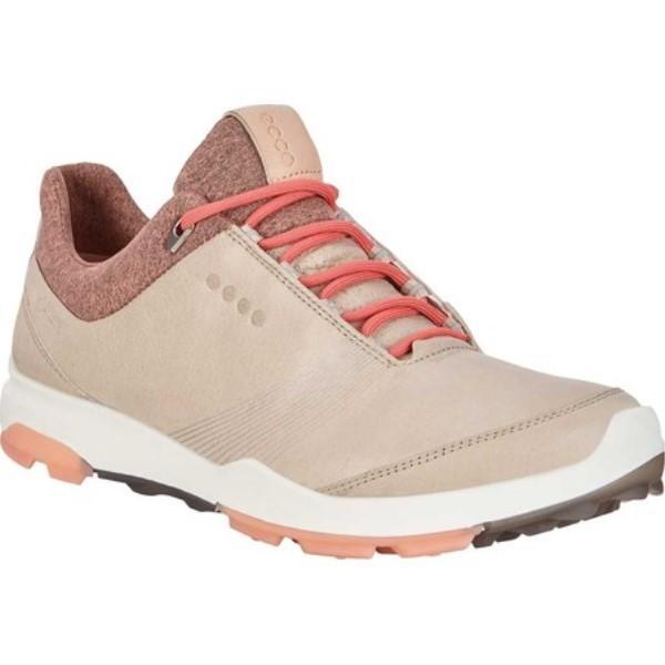 エコー レディース シューズ・靴 ゴルフ BIOM Hybrid 3 Tie GORE-TEX Golf Shoe Oyster/Muted Clay Yak Leather