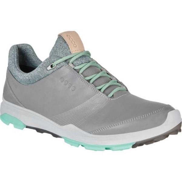 エコー レディース シューズ・靴 ゴルフ BIOM Hybrid 3 Tie GORE-TEX Golf Shoe Wild Dove/Emerald Yak Leather