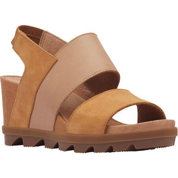 超人気新品 ソレル Sorel レディース シューズ・靴 ウェッジソール Joanie II Wedge Heeled Slingback Camel Brown, MINAKO JEWELRY d3c3d605
