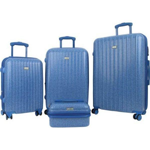 タンカ Tanka レディース スーツケース・キャリーバッグ ハードサイド 4個セット バッグ Zuni 4-Piece Hardside Spinner Luggage Set 青