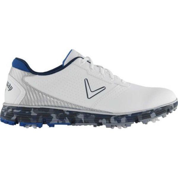 キャロウェイ Callaway メンズ ゴルフ シューズ・靴 Balboa TRX Waterproof Golf Shoe 白い/青 Microfiber