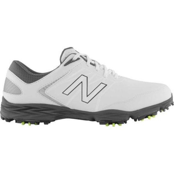 ニューバランス New Balance メンズ シューズ・靴 ゴルフ Striker NBG2005 Golf Spike 白い/グレー Microfiber Leather