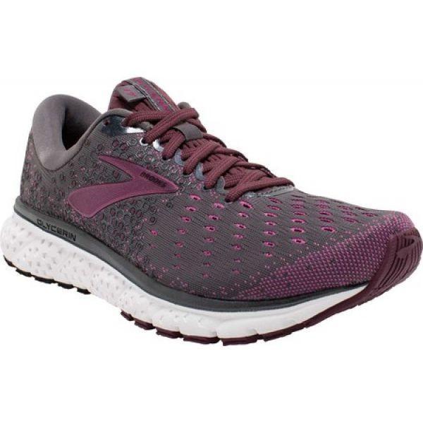 ブルックス Brooks レディース シューズ・靴 ランニング・ウォーキング Glycerin 17 Running Shoe Ebony/Wild Aster/Fig