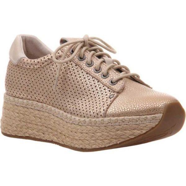 格安人気 オーティービーティー OTBT レディース スニーカー シューズ・靴 Meridian Sneaker New Gold Perforated Brushed Metallic Leather, 大工道具金物の専門通販アルデ c2a9f62d