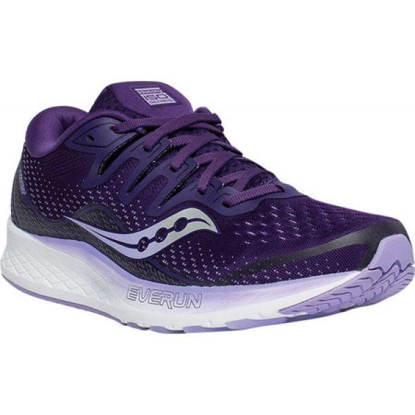 サッカニー Saucony レディース シューズ・靴 ランニング・ウォーキング Ride ISO 2 Running Sneaker 紫の Enginee赤 Mesh