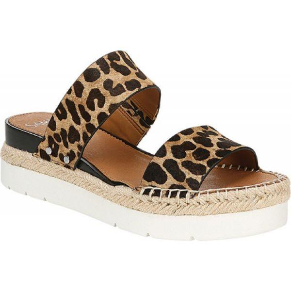 【爆売り!】 フランコサルト Sarto by Franco Sarto レディース シューズ・靴 Cappy Platform Slide Camel Leopard, peyton 478dda9e