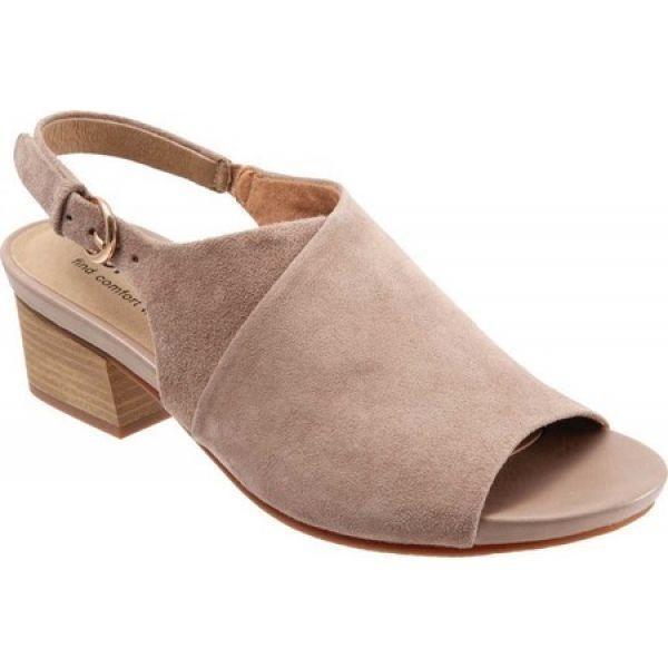 新到着 ソフトウォーク SoftWalk レディース ヒール シューズ・靴 Pomona Block Heel Slingback Taupe, 川辺町 3981cc1f