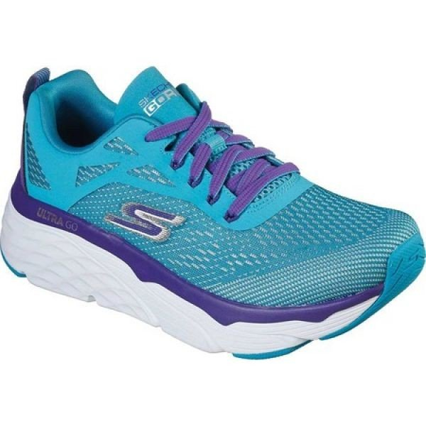 スケッチャーズ Skechers レディース ランニング・ウォーキング スニーカー シューズ・靴 Max Cushioning Elite Spark Sneaker Turquoise/紫の
