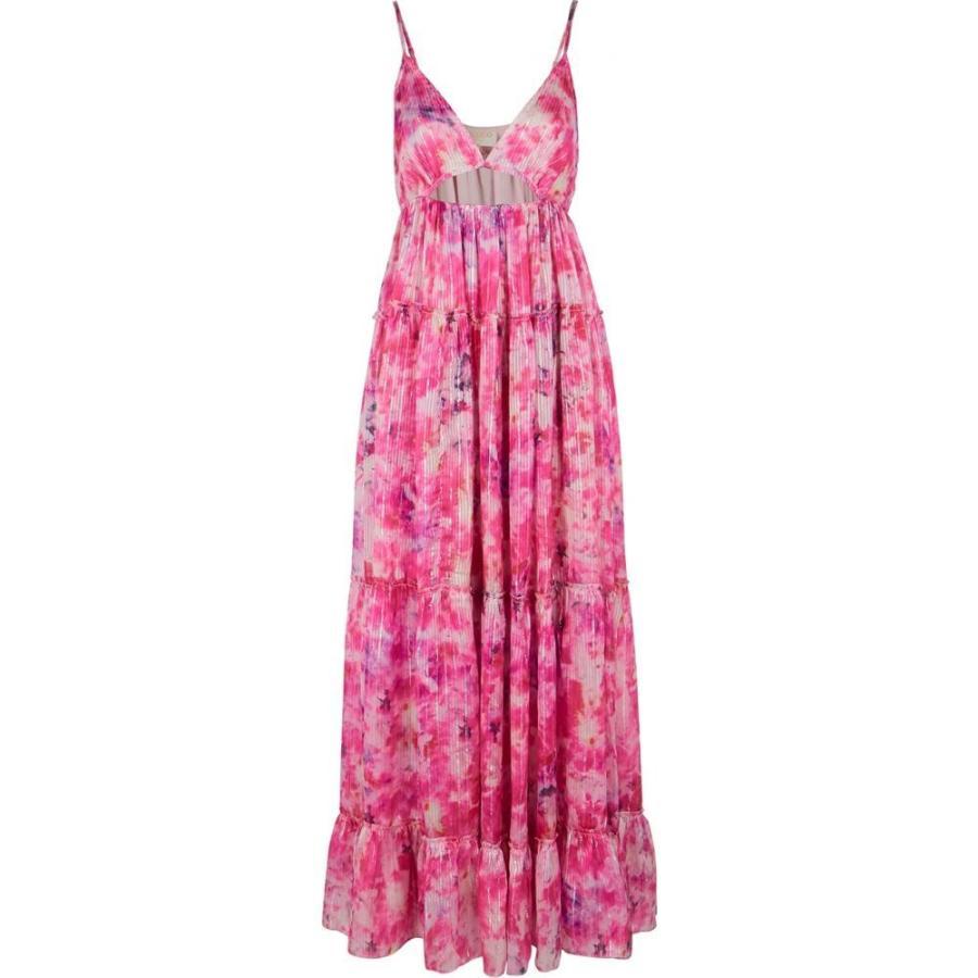ロココ Rococo Sand レディース ビーチウェア ワンピース·ドレス 水着·ビーチウェア Hikari pink lame-weave satin maxi dress Pink