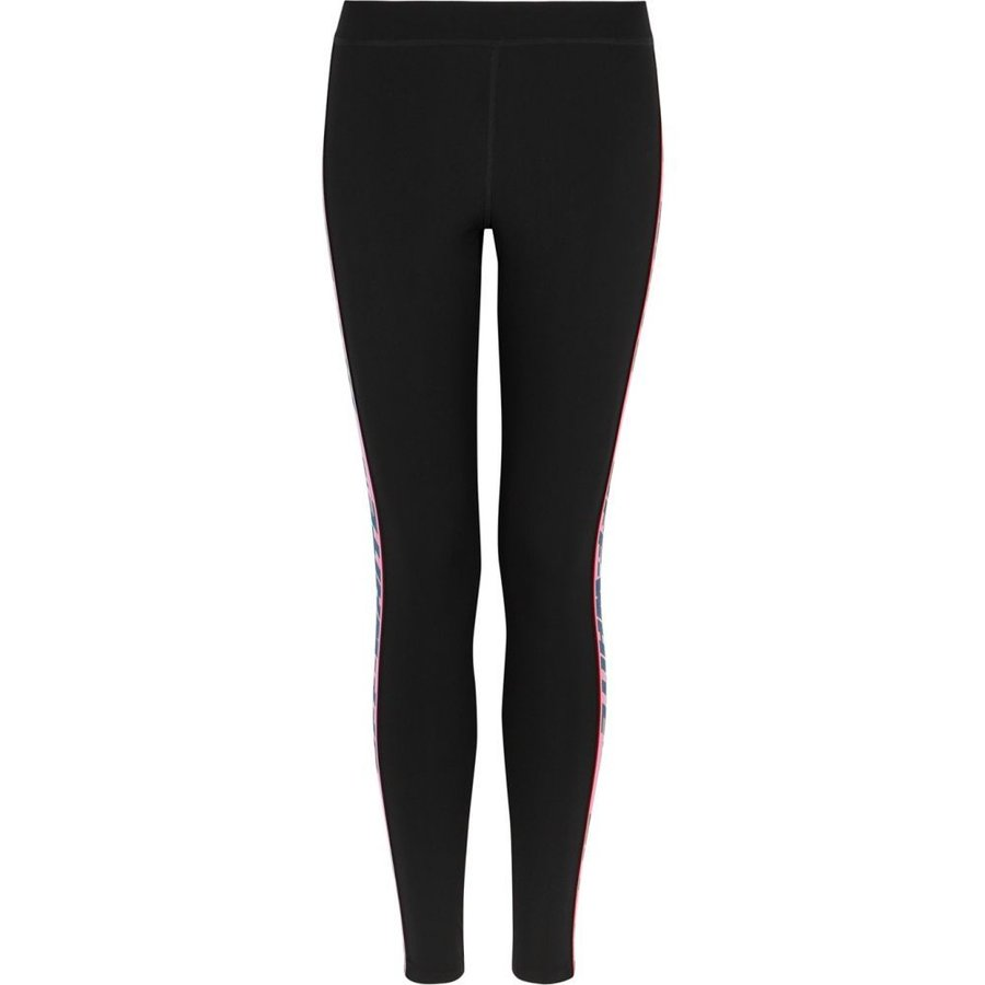 オフホワイト Off-White レディース スパッツ·レギンス インナー·下着 Black Striped Logo Leggings Black