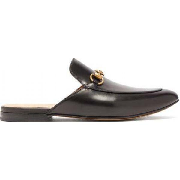 100%安い グッチ loafers Gucci メンズ ローファー シューズ・靴 leather Princetown backless Gucci leather loafers black, ヌマタシ:a87b23e8 --- levelprosales.com
