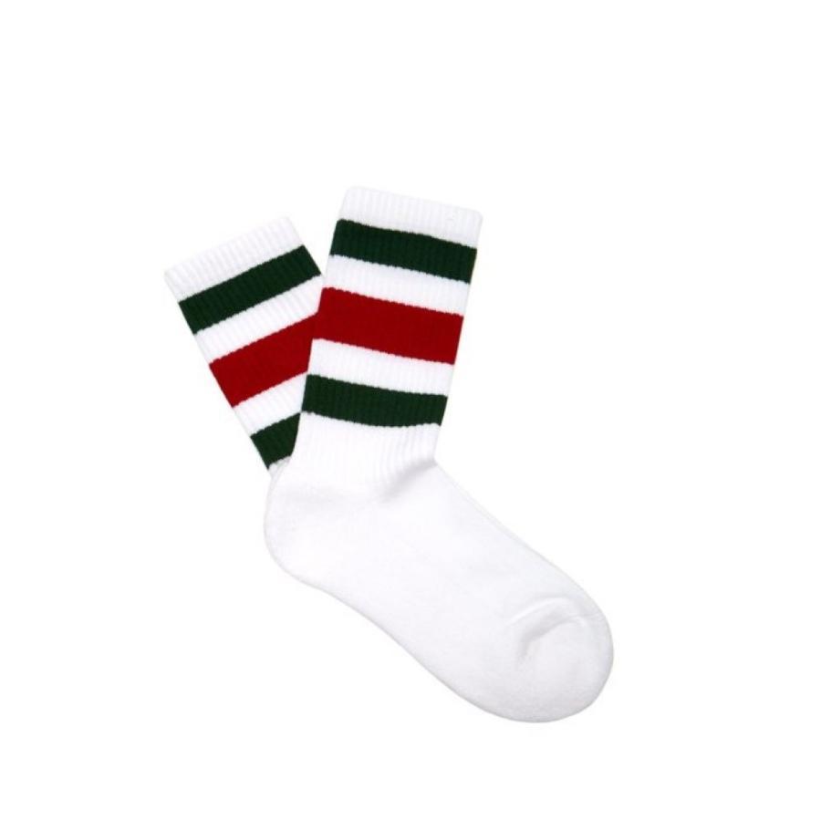 グッチ Gucci レディース ソックス インナー・下着 Web-striped cotton-blend socks 白い