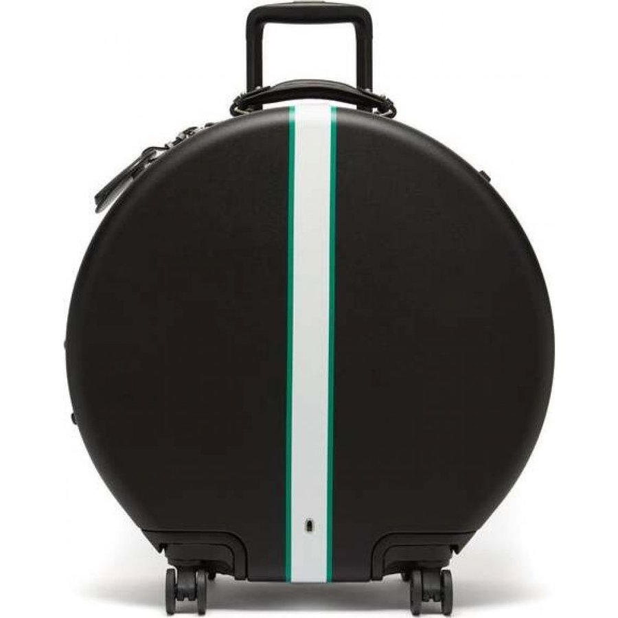 オーコン Ookonn レディース スーツケース・キャリーバッグ バッグ front-stripe circular check-in suitcase 黒