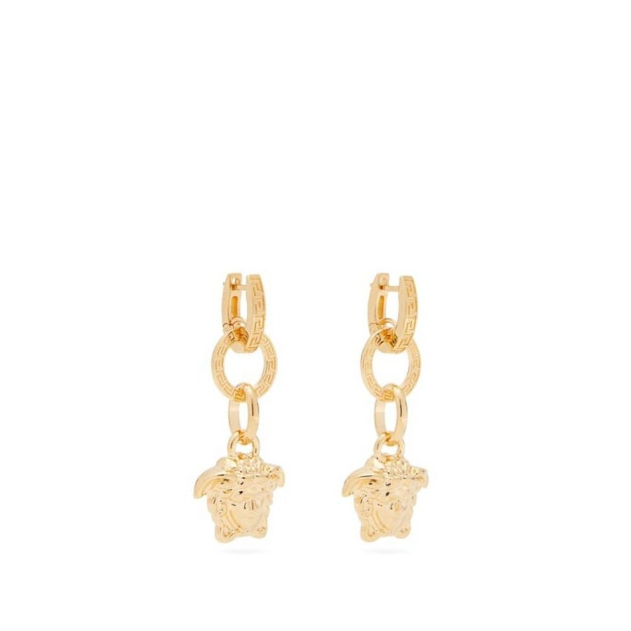 【大特価!!】 ヴェルサーチ Versace レディース earrings イヤリング・ピアス Versace ジュエリー・アクセサリー Medusa head Gold drop earrings Gold, 晴富:656efca4 --- airmodconsu.dominiotemporario.com