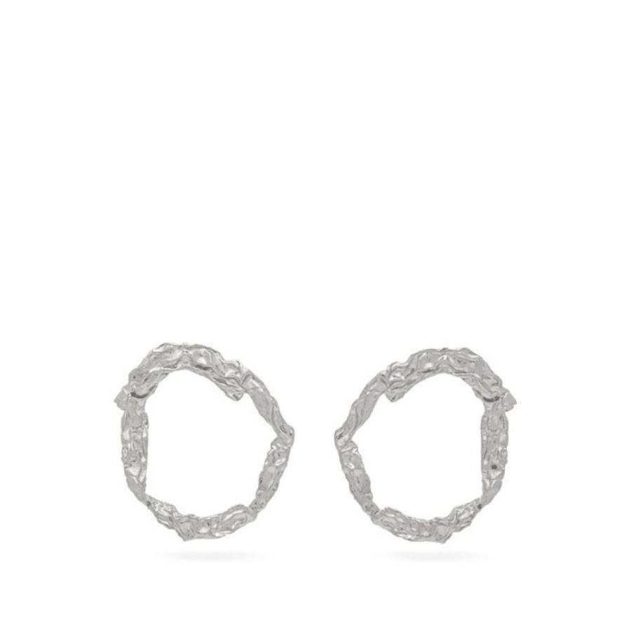 新しいブランド クロエ Chloe レディース イヤリング Chloe・ピアス ジュエリー・アクセサリー earrings Anouck crinkle-effect レディース hoop earrings silver, イーパーツ:4ebd85e9 --- airmodconsu.dominiotemporario.com