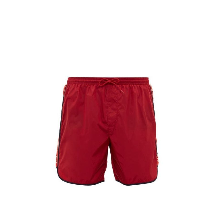 グッチ Gucci メンズ 海パン 水着・ビーチウェア Logo-stripe swim shorts red