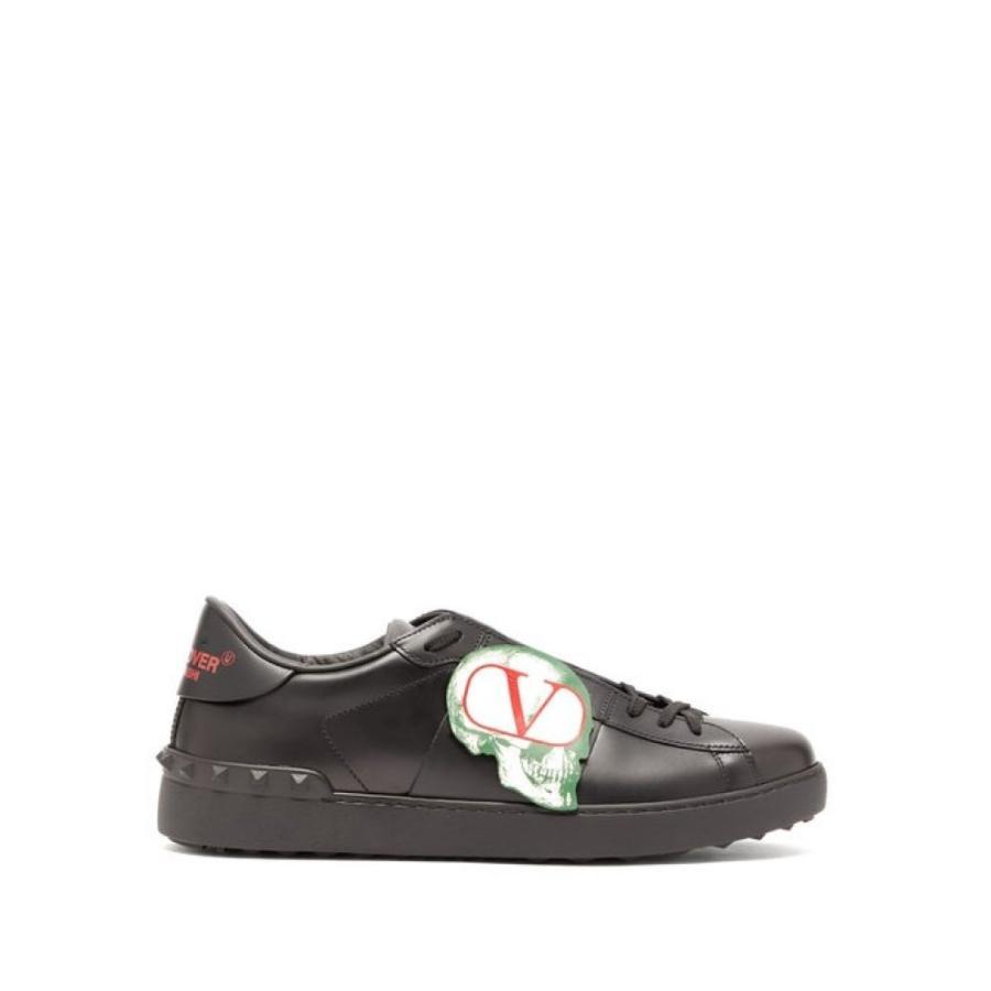 最上の品質な ヴァレンティノ Undercover Valentino メンズ スニーカー スニーカー シューズ・靴 X Undercover leather skull-applique leather trainers Black, シラタキムラ:11a0249f --- sonpurmela.online