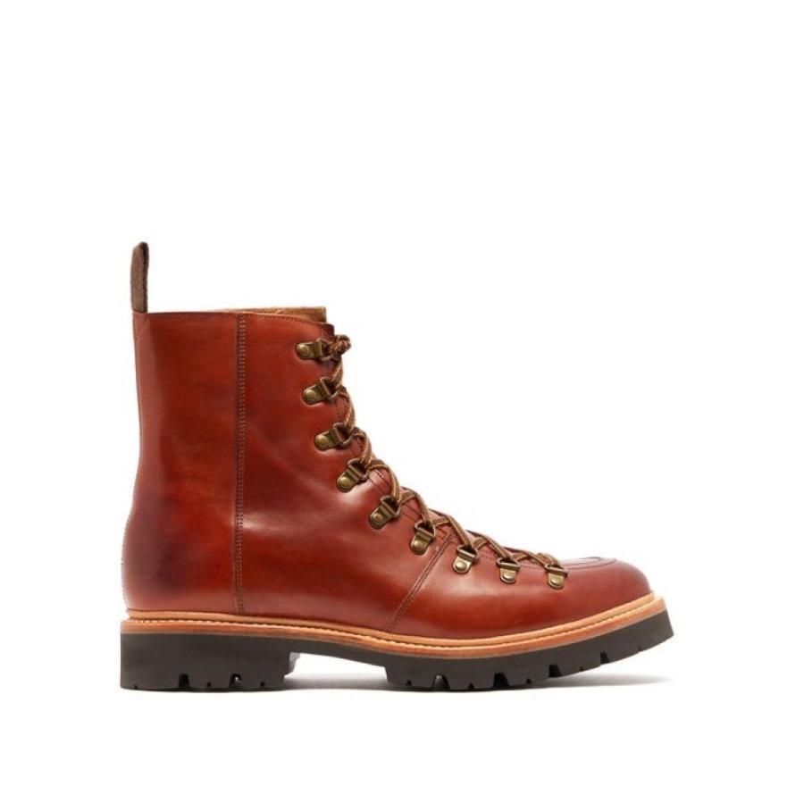 グレンソン Grenson メンズ シューズ・靴 ハイキング・登山 Brady leather hiking boots brown