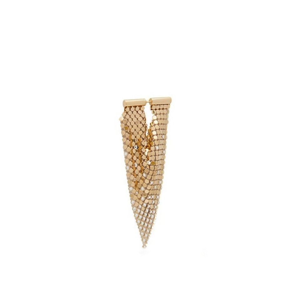 【爆買い!】 パコラバンヌ Paco Rabanne レディース イヤリング・ピアス ジュエリー・アクセサリー Crystal-embellished パコラバンヌ Crystal-embellished Paco chainmail earrings gold, zakka来福JUNE:d6229b05 --- airmodconsu.dominiotemporario.com