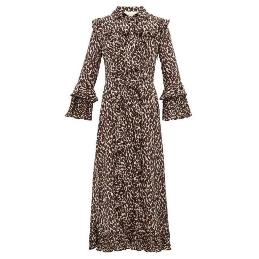 ラダブルジェー La DoubleJ レディース ビーチウェア 水着・ビーチウェア Leopard-print georgette midi dress Black