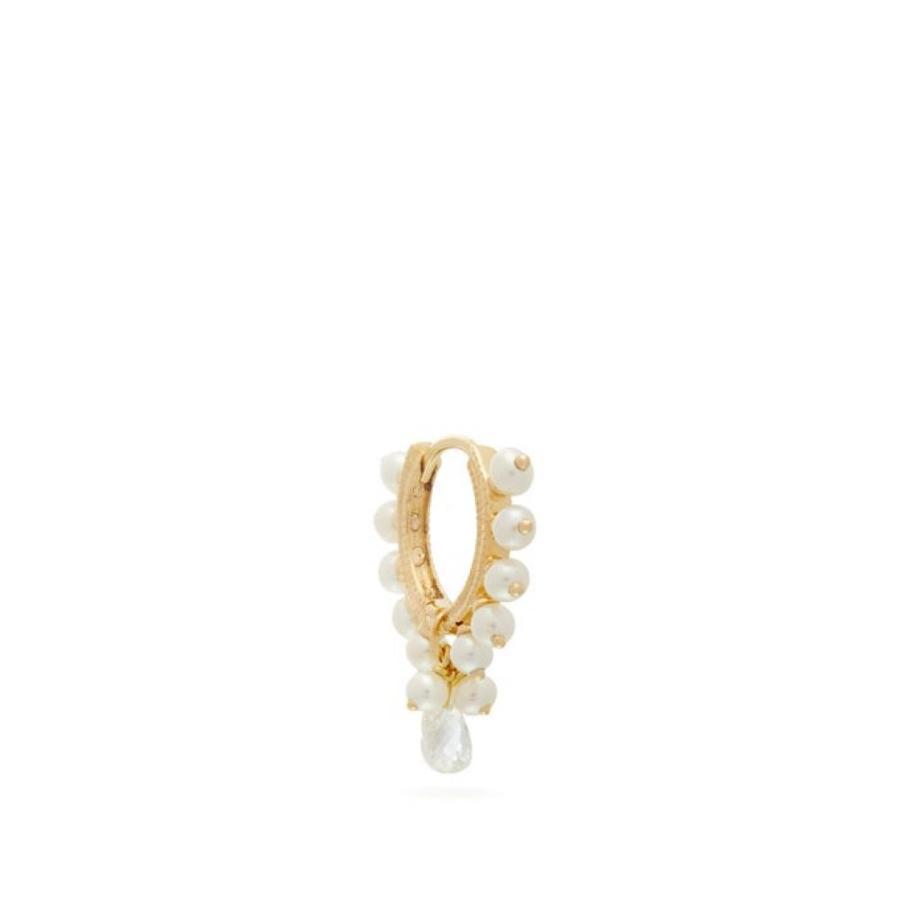 卸し売り購入 マリアタシュ Maria Tash レディース イヤリング pearl・ピアス Gold ジュエリー・アクセサリー Coronet gold diamond & pearl 18kt gold single earring Gold, 超話題新作:2a261dda --- airmodconsu.dominiotemporario.com