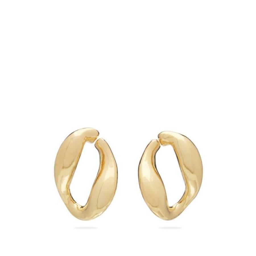 【一部予約販売】 ミショー Misho レディース イヤリング・ピアス ジュエリー・アクセサリー Chunky Chain gold-plated hoop earrings Gold, SunCraft 43dc8b0c