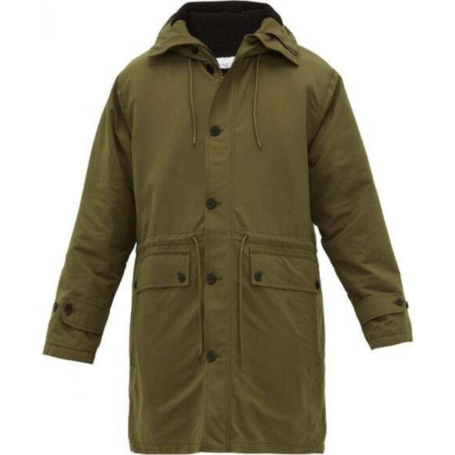 【ギフ_包装】 レイ Raey メンズ コート フード アウター Oversized water-repellent hooded parka Green, 古武士屋 6dfcf58b