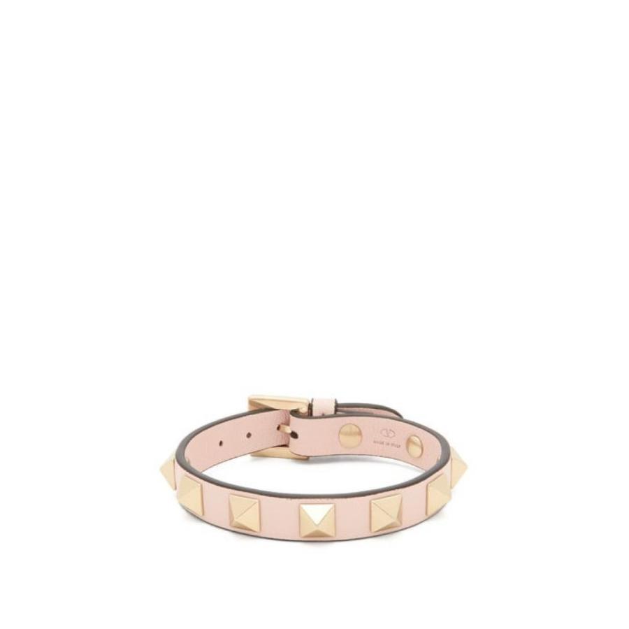 低価格の ヴァレンティノ Valentino レディース ブレスレット ジュエリー・アクセサリー Rockstud leather bracelet Light pink, 八幡西区 50376025