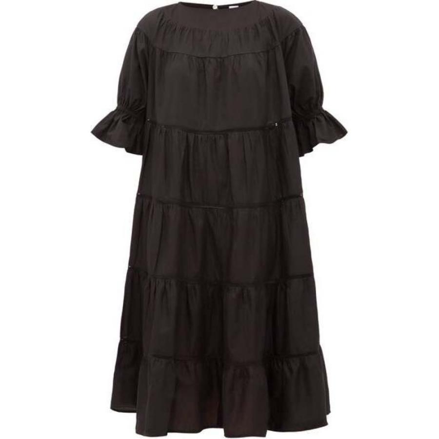 マーレット Merlette レディース ビーチウェア サンドレス ティアードドレス 水着·ビーチウェア Paradis tiered cotton sun dress Black