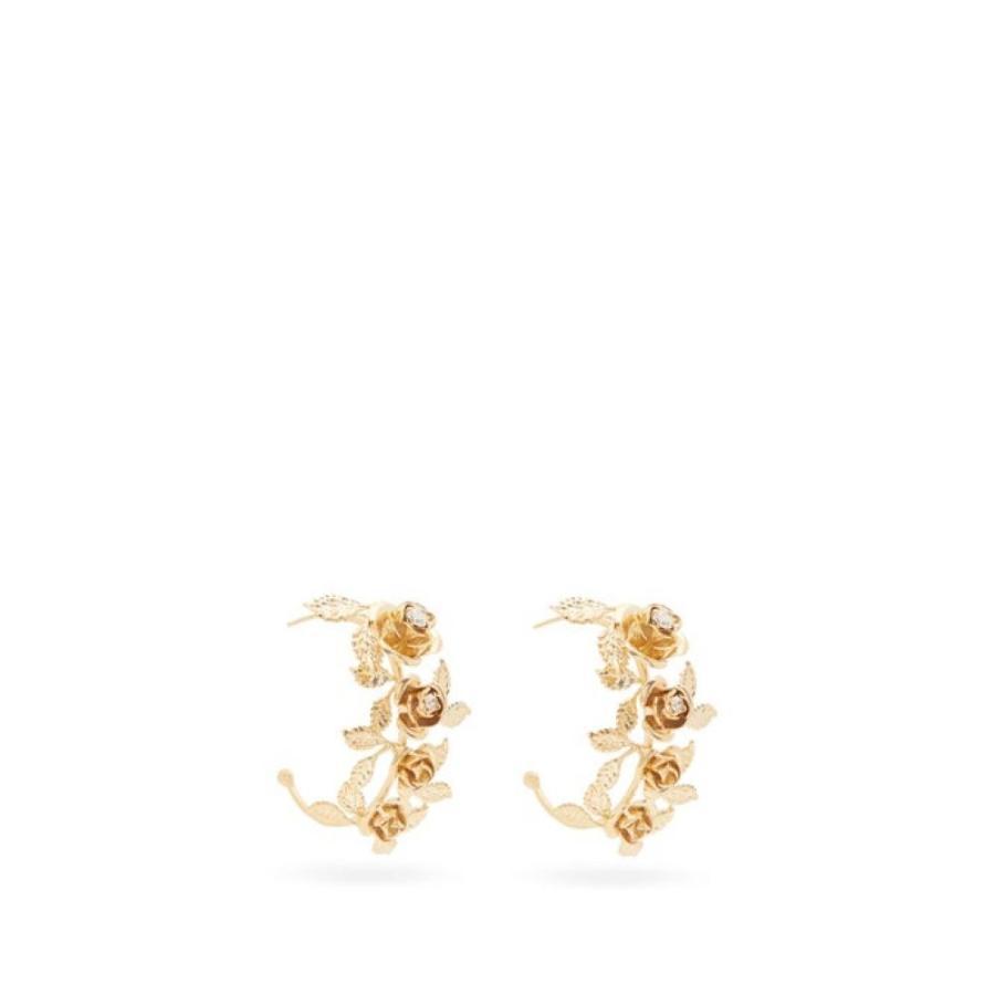 【爆買い!】 ロザンティカ Rosantica レディース イヤリング・ピアス Rosantica ジュエリー Gold・アクセサリー Lirica floral-hoop レディース and crystal earrings Gold, トヨカワシ:1660c46c --- airmodconsu.dominiotemporario.com