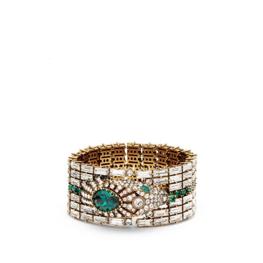 独創的 グッチ Gucci レディース レディース ブレスレット ジュエリー Gucci・アクセサリー Green Crystal-embellished snake bracelet Green, Mystyleキャットストア:129982f7 --- airmodconsu.dominiotemporario.com
