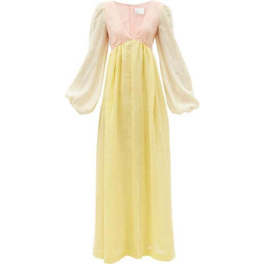 リサ マリー フェルナンデス Lisa Marie Fernandez レディース ビーチウェア エンパイアドレス ワンピース·ドレス Carolyn empire-waist linen maxi dress