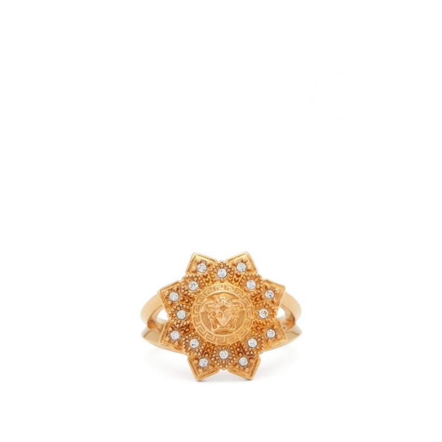 大勧め ヴェルサーチ Versace レディース レディース 指輪 Medusa-head・リング ジュエリー・アクセサリー ヴェルサーチ Medusa-head and flower crystal ring Gold, wedding gift La vie en Rose:e21905f0 --- airmodconsu.dominiotemporario.com