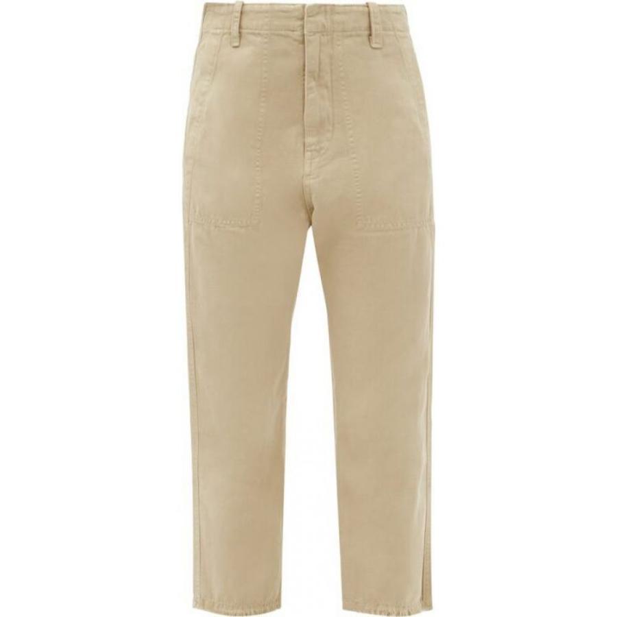 ニリ ロータン Nili Lotan レディース クロップド ボトムス·パンツ Luna cotton-blend drill cropped trousers Beige